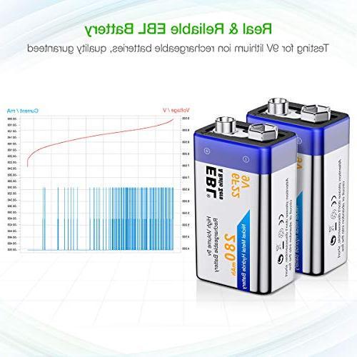 EBL Rechargeable NiMH 280mAh Battery Smoke Detector,