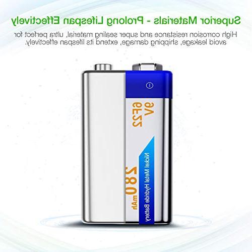 EBL Batteries NiMH Everyday 280mAh Battery Smoke Detector, 4-Packs
