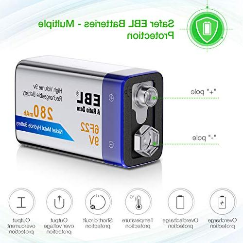 EBL NiMH Everyday Battery for Smoke Detector,