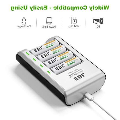 EBL Ni-CD Charger Batteries 4