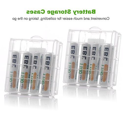 EBL & Rechargeable Battery Charger AAA 8 Counts