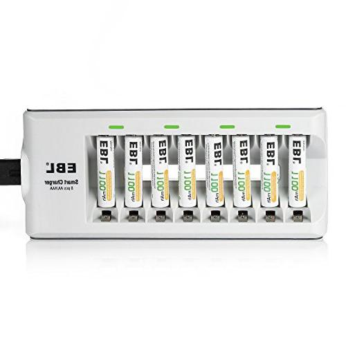 EBL Rechargeable Battery with AAA 1100mAh Rechargeable