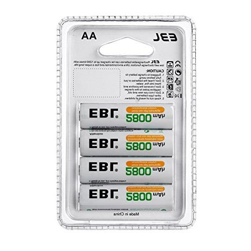 EBL Rechargeable Batteries 2800mAh New Pack of