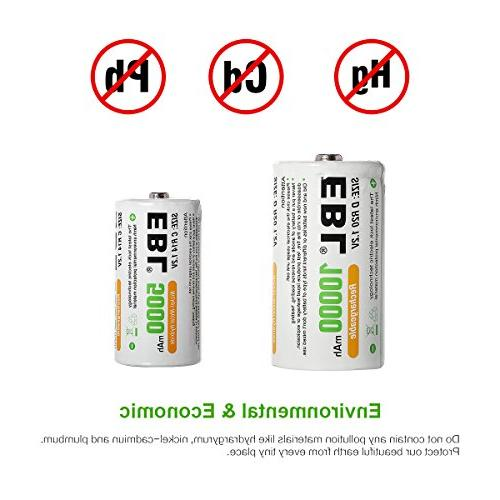 EBL C 4-Pack 5,000mAh High Rechargeable