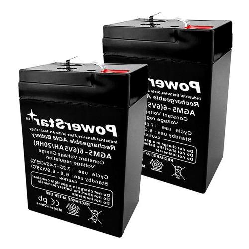 PowerStar« 2 Pack - 6V 5Ah PS-640, PS640F1, UB645 Replaceme
