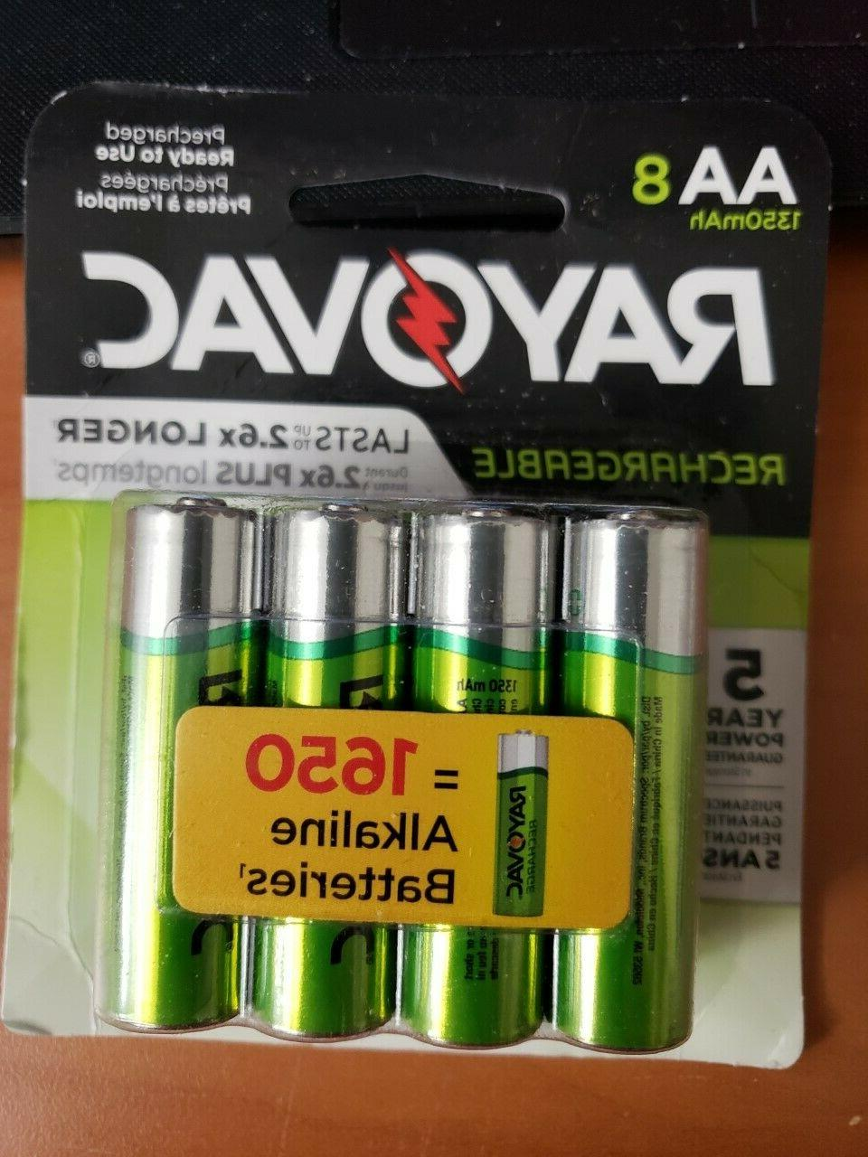 RAYOVAC AA 8-Pack RECHARGEABLE Batteries, LD715-8OP GENE