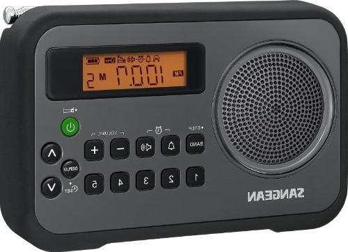 Sangean PR-D18BK AM/FM/Clock Portable Digital Radio with Pro