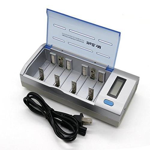 Smart AA Battery Charger, Mr.Batt Battery Charger for Ni-MH