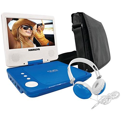 Sylvania SDVD7060-Combo-Blue 7-Inch DVD Player Bundle Matching Oversize and Deluxe Travel