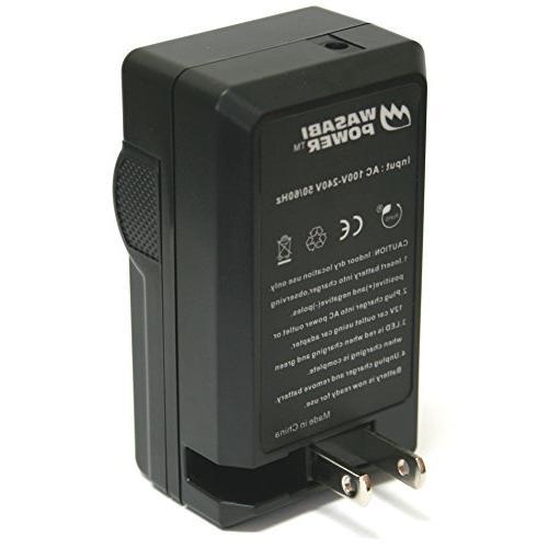 Wasabi Battery Charger NB-6LH, and PowerShot ELPH 500 HS, S90, S95, S120, IS, SD980 SD1200 SD1300 SD4000 IS, SX240 HS, SX260 HS, SX270 HS, HS, SX500 SX520 HS, SX600 HS, SX610 HS,