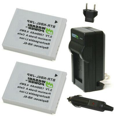 Wasabi Power Battery  and Charger for Canon NB-6L, NB-6LH, C