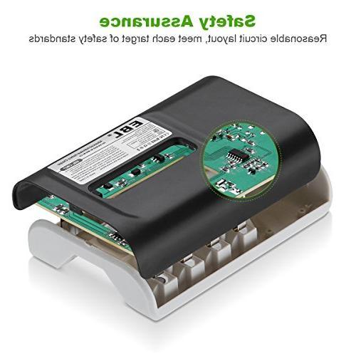 EBL 8Pcs USB Input Battery for AAA