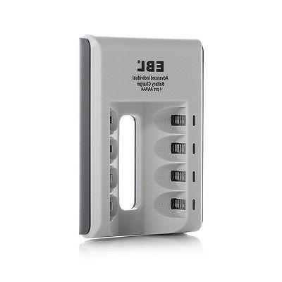 8x AAA Batteries +4-Slot USB AAA NI-CD Charger
