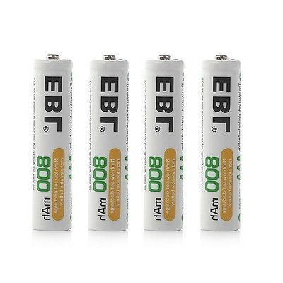 8x EBL Batteries USB AAA NI-CD Battery