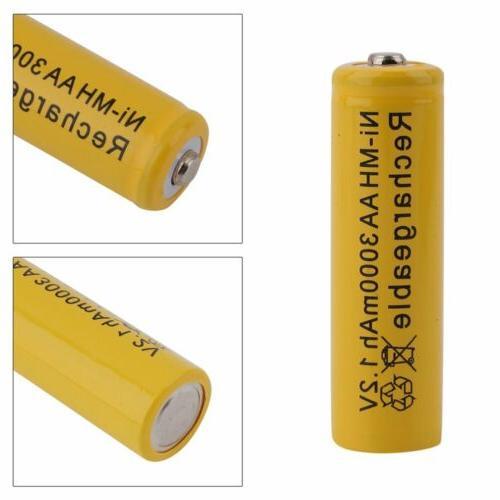 AA/AAA Rechargeable Batteries 1.2V 3000mAh LOT USA