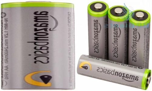 aa high capacity rechargeable batteries 4 pack