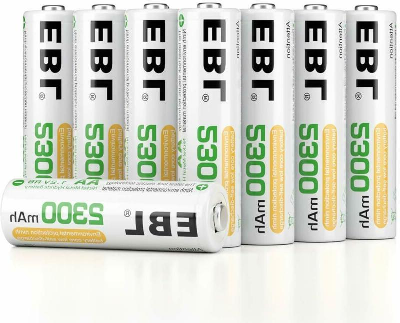 EBL AA Rechargeable Batteries 2300mAh Ni-MH 16-Count, Batter