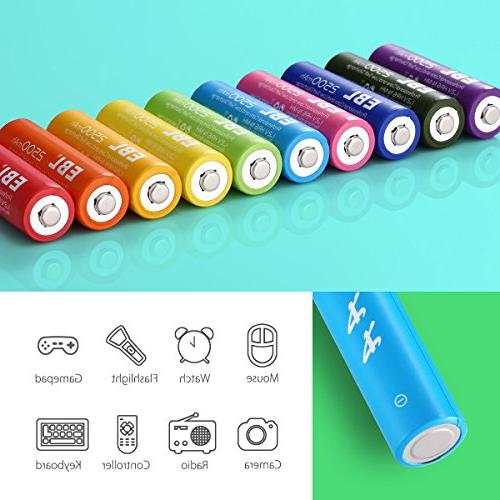 EBL Rechargeable AA High Capacity 2500mAh Ni-MH - Certified