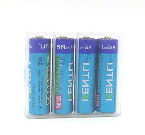 KENTLI 4 pieces 1.5v AA 3000mWh AA Batteries