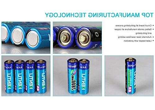 1.5v 3000mWh Lithium-ion Polymer AA Batteries