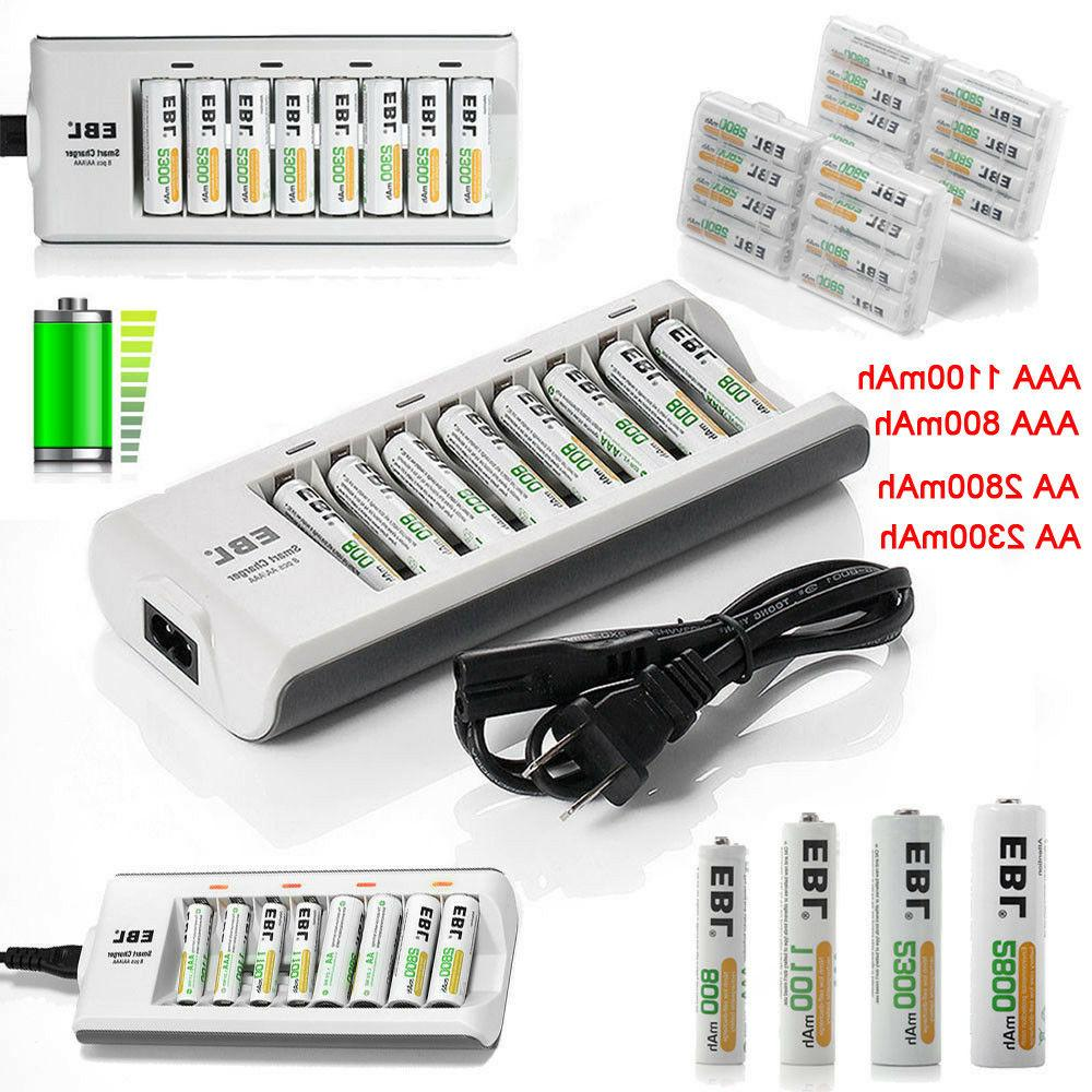 aaa aa ni mh rechargeable batteries 8bay