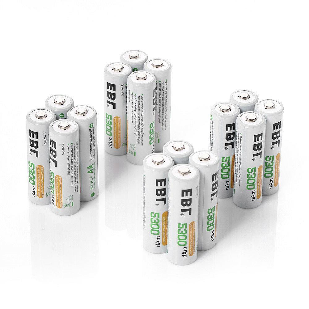 EBL Lot AA Ni-MH Rechargeable Batteries Camera Flashlights Clocks