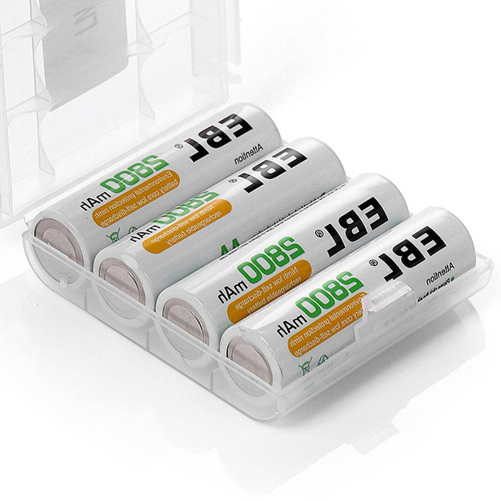 Rechargeable Batteries 2300mAh 800mAh + Box