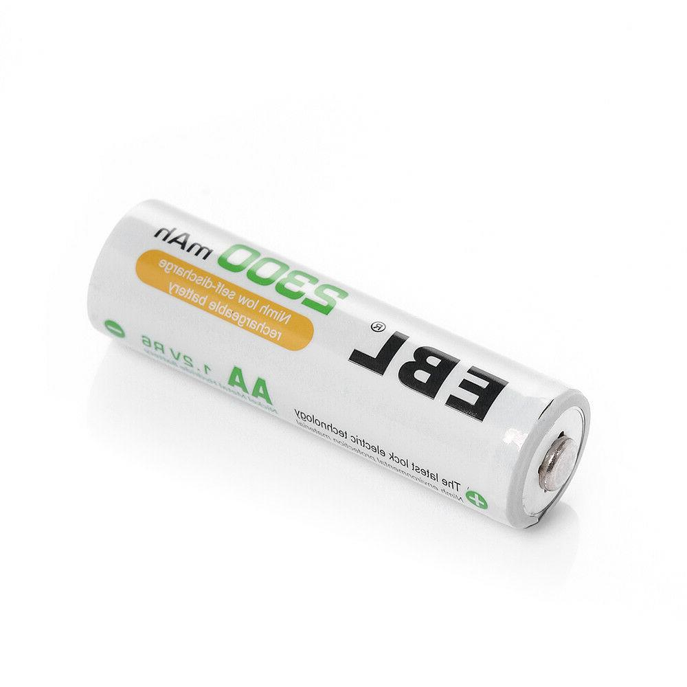 EBL Lot AA Rechargeable Batteries 2300mAh 1100mAh Box
