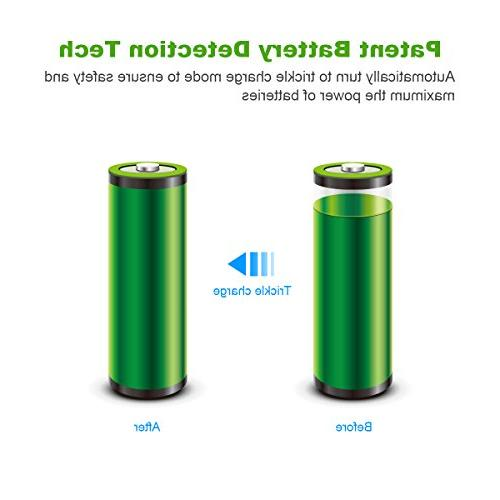 EBL AAA Rechargeable Batteries 8Pcs and Input for AA Batteries