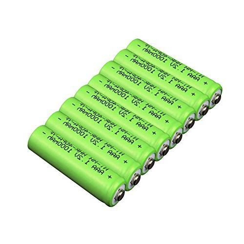 AAA VANON 1000mAh Replacement Battery for Ni-MH Rechargeable Cordless Battery, of 8