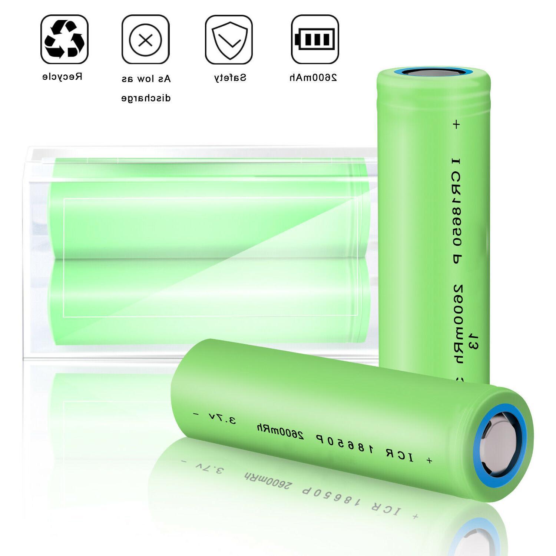 Batteries 2600mAh 3.7V Top Battery