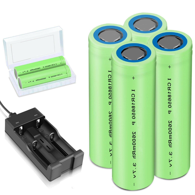 batteries 2600mah 18650 rechargeable li ion flashlight
