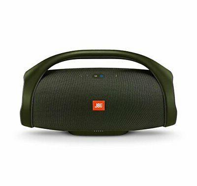 boombox portable bluetooth waterproof speaker forest green