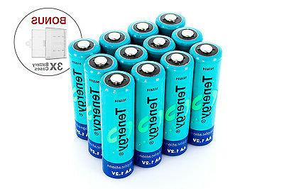 Combo: 12 pcs Tenergy AA 2600mAh NiMH Rechargeable Batteries