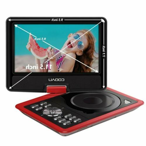 "COOAU 11.5"" Portable DVD Player 5 Hour"