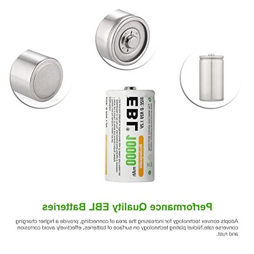 EBL C Cell 4-Pack High Rechargeable C