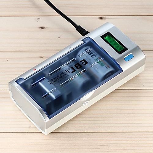 EBL D Cells Rechargeable Batteries D