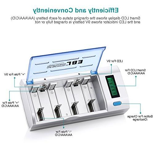 EBL 906 for D with 4 5000mAh C