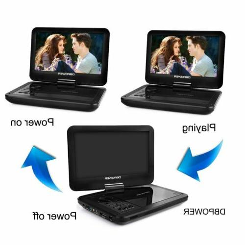 "DBPOWER DVD Player Rechargeable 10"" Screen Free"