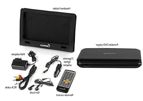 Impecca DVP1016 10.1 Portable DVD Player, Screen, Black