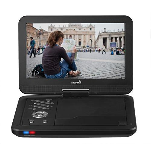 Impecca 10.1 Portable DVD Player, Screen, Black