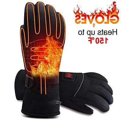 Rabbitroom Electric Battery Heated Gloves for Men&Women Rech