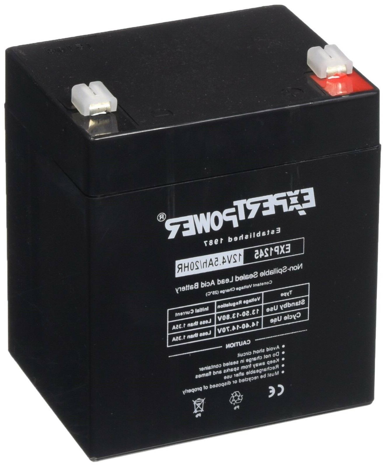 exp1245 12v 4 5 amp rechargeable battery