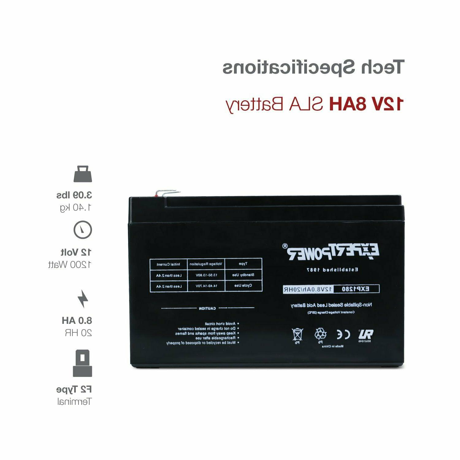 exp1280 12v 8ah rechargeable battery