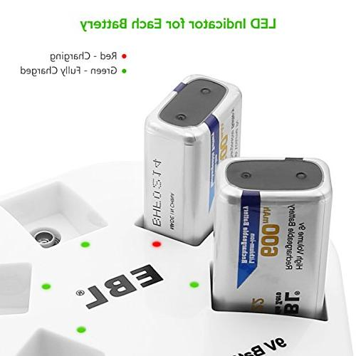 EBL Rechargeable Batteries 600mAh Bay Lithium Battery Charger Fast Charger