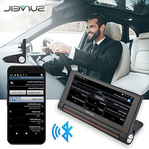 "GPS Touchscreen Dashcam - 7"" Display, Navigation Front - Wi-Fi Bluetooth Wireless FM Battery"