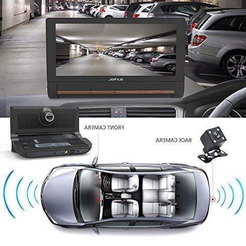 GPS Dashcam Navigation Dual Built-in Adjustable Front - Bluetooth FM Radio Battery Pyle