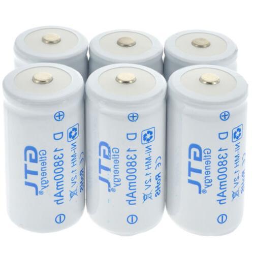 GTL 1-8pcs D D-Type 13800mAh 1.2V Rechargeable Battery