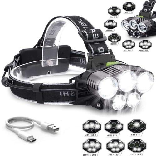 Headlamp Rechargeable Flashlight 9900mah 18650 Battery