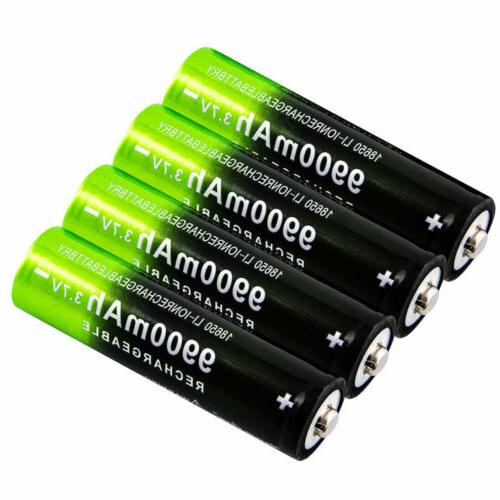 18650 3.7V Battery Li-ion Rechargeable & Charger For Flashli